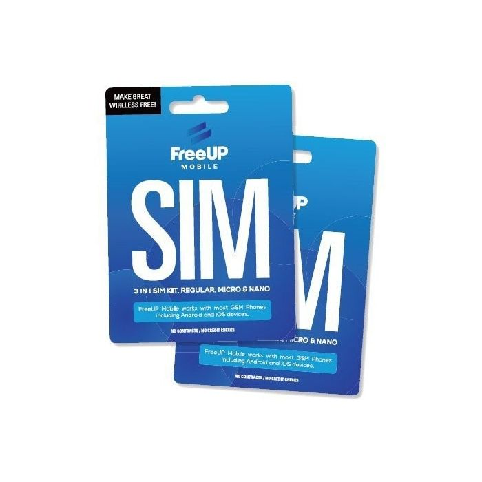 Micro and Nano All in one SIM Card Works on Unlocked GSM Phones Including iPhone /& Android Ultra Mobile Triple Punch Regular